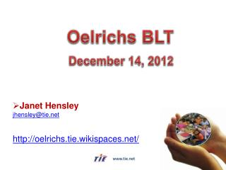 Janet Hensley jhensley@tie oelrichs.tie.wikispaces/