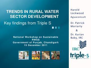 TRENDS IN RURAL Water SECTOR DEVELOPMENT