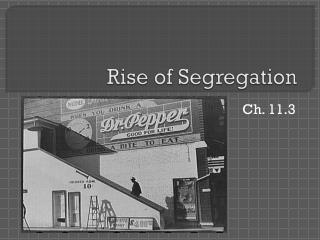 Rise of Segregation
