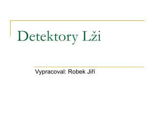 Detektory Lži