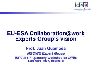 The NGCWE Expert Group