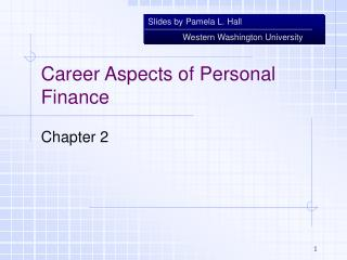 Career Aspects of Personal Finance