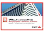 CAFRAL Conference of CEOs Managing capital in a dynamic risk environment
