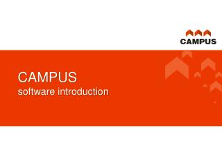 CAMPUS software introduction