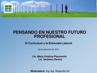 PENSANDO EN NUESTRO FUTURO PROFESIONAL