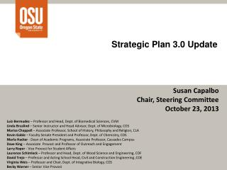 Strategic Plan 3.0 Update