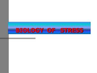 BIOLOGY  OF   STRESS