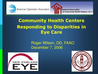 Community Health Centers Responding to Disparities in Eye Care