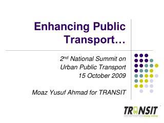 Enhancing Public Transport…