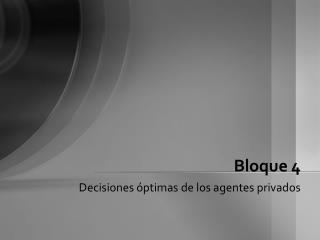 Bloque 4