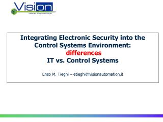 Security IT & Control System Security: where are we?