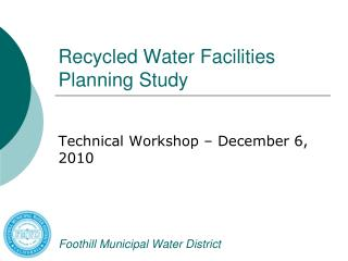 Recycled Water Facilities Planning Study