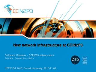 New network infrastructure at CCIN2P3