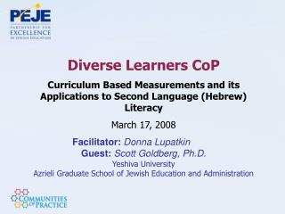 Diverse Learners CoP