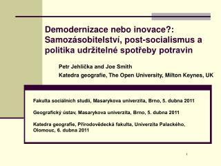 Fakulta soci�ln�ch studi�, Masarykova univerzita, Brno, 5. dubna 2011