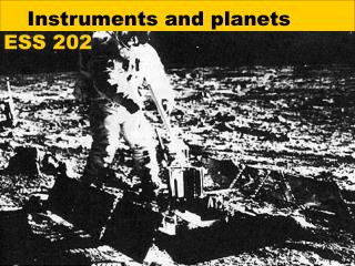 Instruments and planets