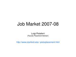 Job Market 2007-08
