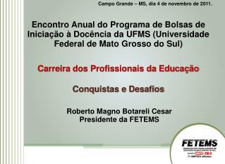 Campo Grande – MS, dia 4 de novembro de 2011.