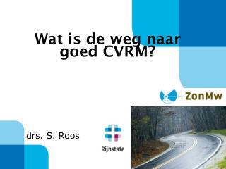 Wat is de weg naar  goed CVRM?
