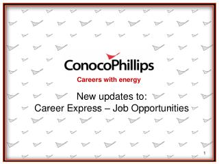 New updates to: Career Express – Job Opportunities