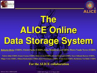 The ALICE Online Data Storage System