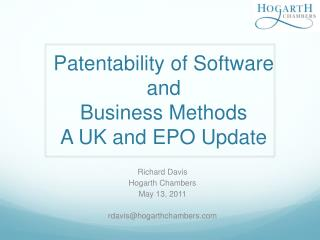 Patentability of  Software and Business  Methods A UK and EPO  Update