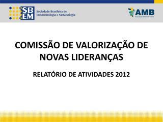 COMISSÃO DE VALORIZAÇÃO DE NOVAS LIDERANÇAS