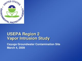 USEPA Region 2 Vapor Intrusion Study