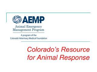 Colorado's Resource for Animal Response