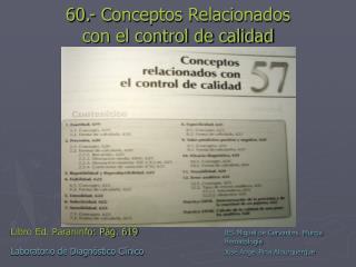 60.- Conceptos Relacionados con el control de calidad