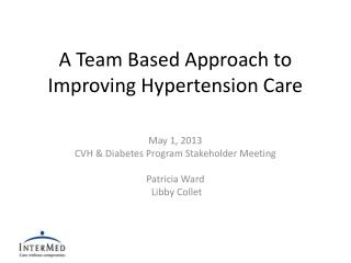 A Team Based Approach to Improving Hypertension Care