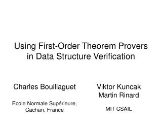 Using First-Order Theorem Provers in Data Structure Verification
