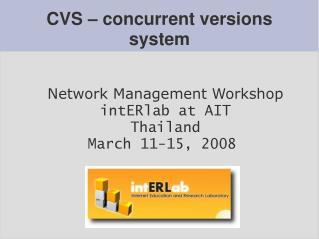 CVS – concurrent versions system