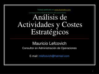 Análisis de Actividades y Costes Estratégicos