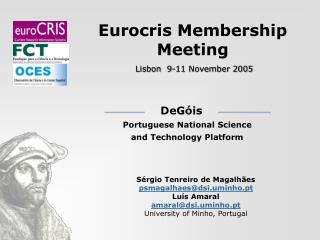 Eurocris Membership Meeting