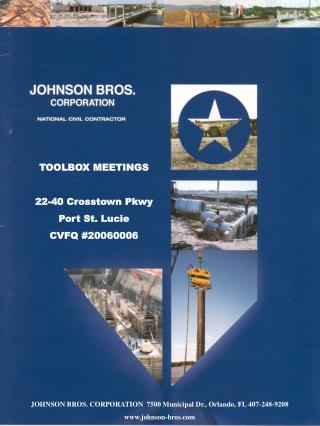 JOHNSON BROS. CORPORATION  7500 Municipal Dr., Orlando, FL 407-248-9208 johnson-bros