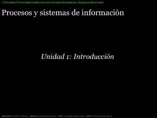 Procesos y sistemas de información
