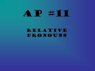 AP #11