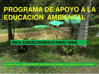 PROGRAMA DE APOYO A LA                   EDUCACIÓN  AMBIENTAL