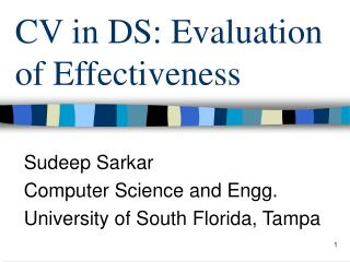 CV in DS: Evaluation of Effectiveness