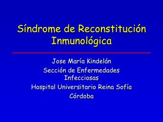 Síndrome de Reconstitución Inmunológica