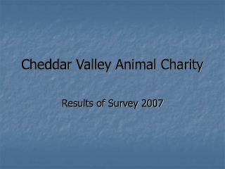 Cheddar Valley Animal Charity