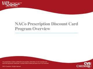 NACo Prescription Discount Card