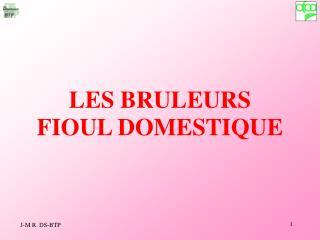 LES BRULEURS FIOUL DOMESTIQUE