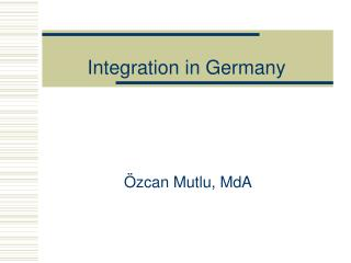 Integration in Germany