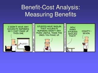 Benefit-Cost Analysis:  Measuring Benefits