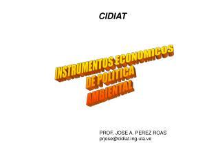 INSTRUMENTOS ECONOMICOS DE POLITICA AMBIENTAL