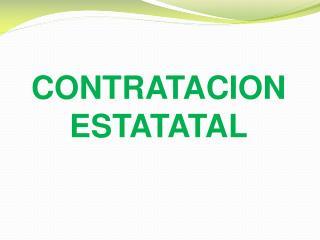 CONTRATACION ESTATATAL