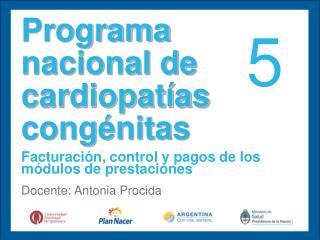 Programa nacional de cardiopatías congénitas