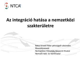Az integráció hatása a nemzetközi szakterületre